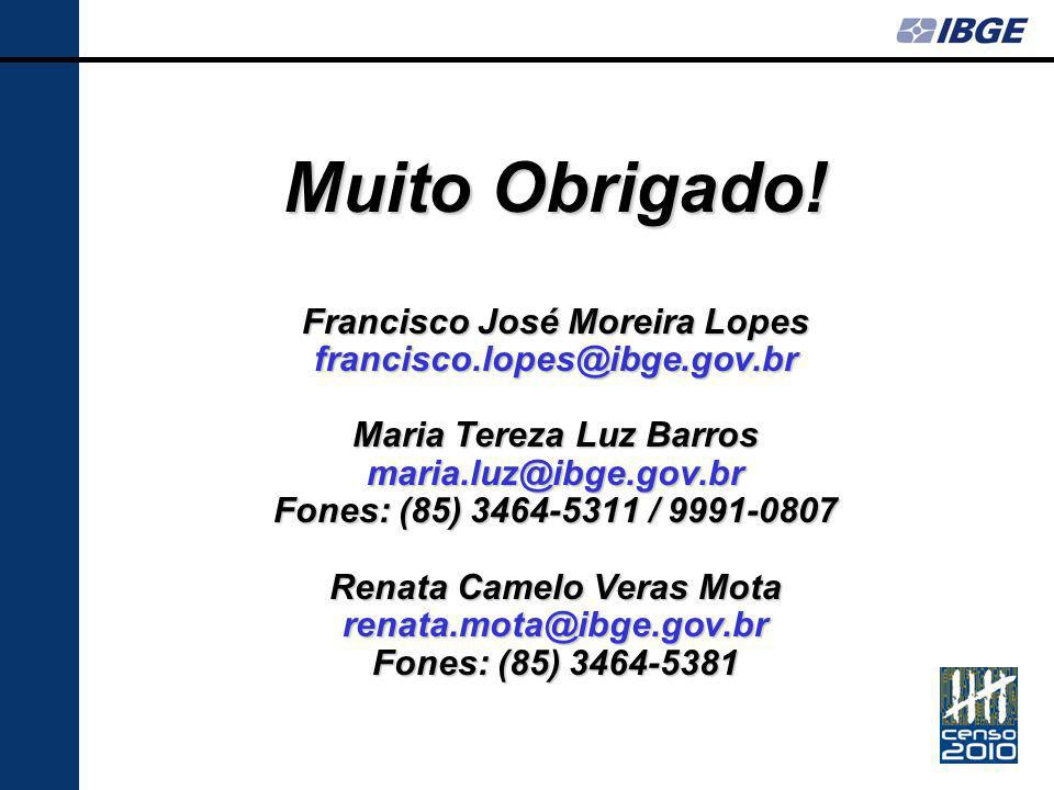Muito Obrigado! Francisco José Moreira Lopes