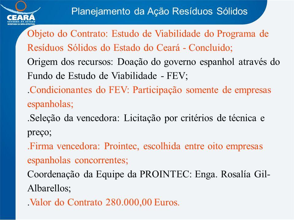 .Condicionantes do FEV: Participação somente de empresas espanholas;