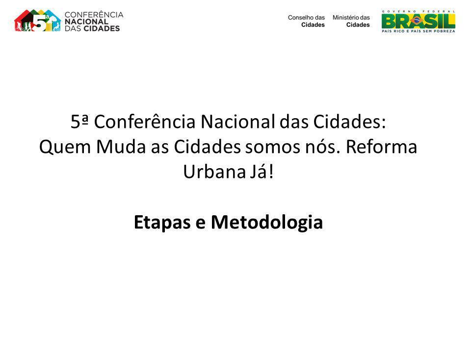 5ª Conferência Nacional das Cidades: