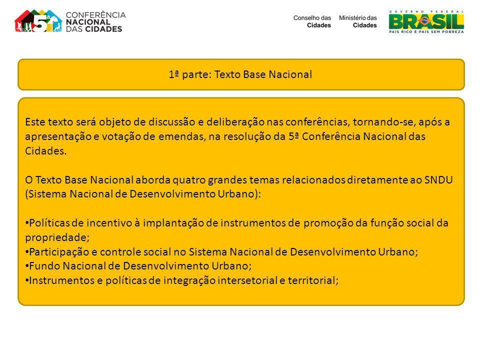 1ª parte: Texto Base Nacional
