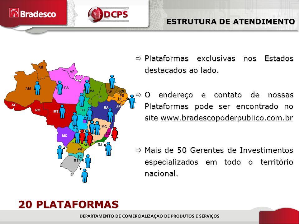 20 PLATAFORMAS ESTRUTURA DE ATENDIMENTO