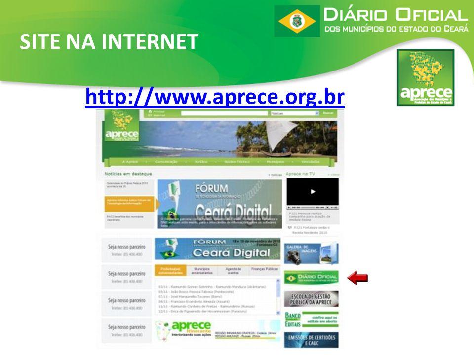 SITE NA INTERNET http://www.aprece.org.br