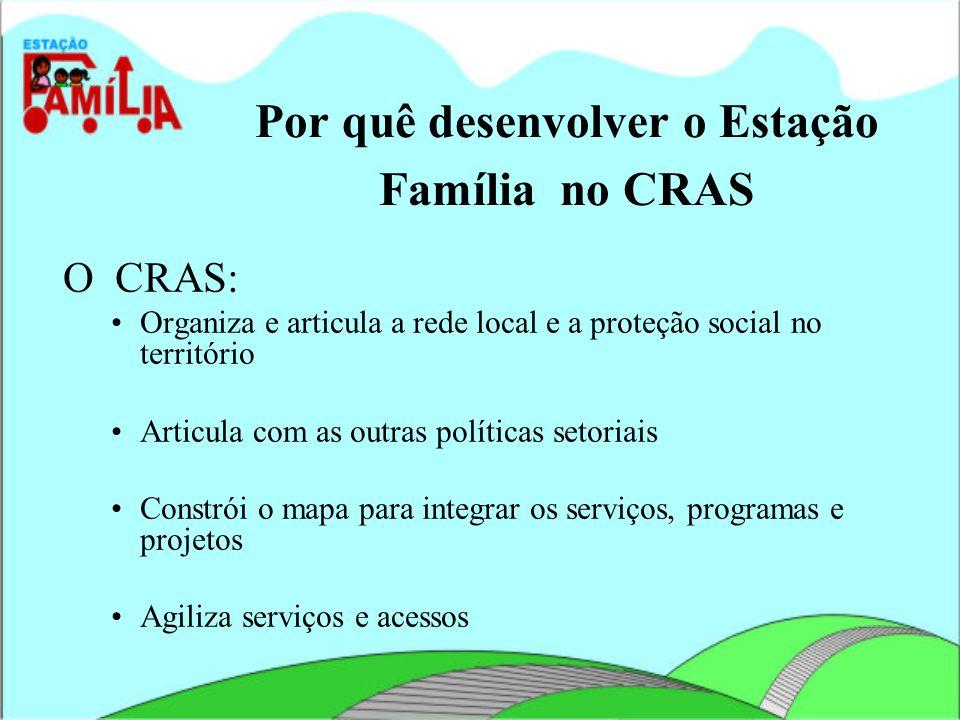 Por quê desenvolver o Estação Família no CRAS