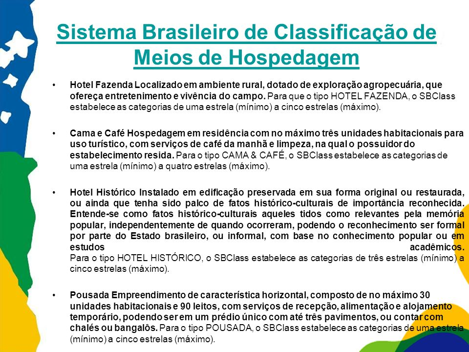 Sistema Brasileiro de Classificação de Meios de Hospedagem