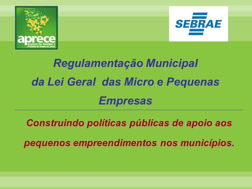 Regulamentação Municipal da Lei Geral das Micro e Pequenas Empresas