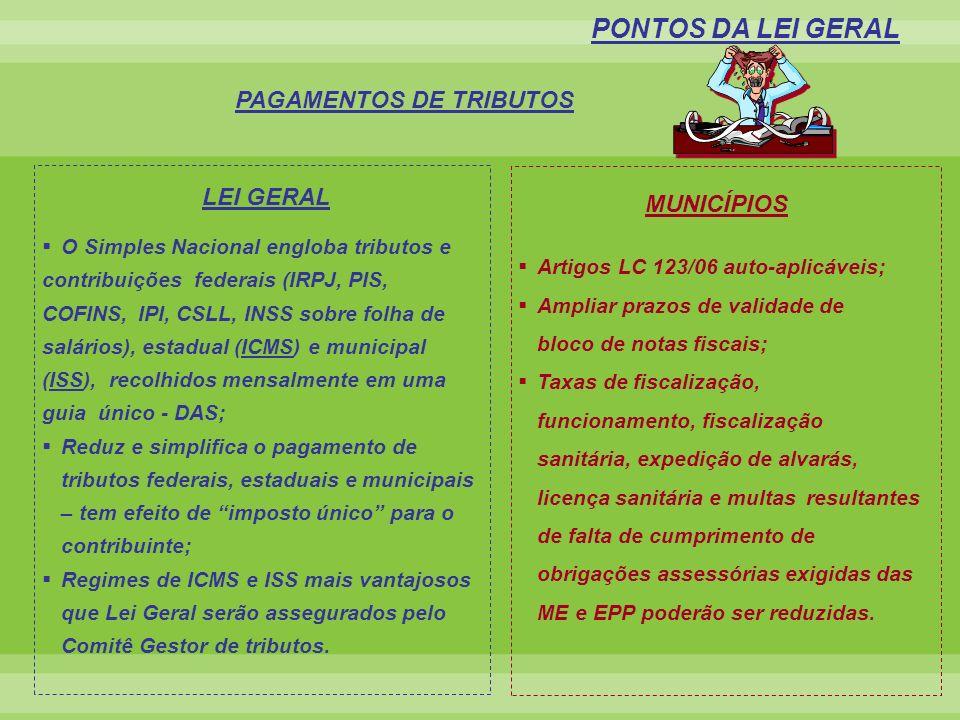 PAGAMENTOS DE TRIBUTOS
