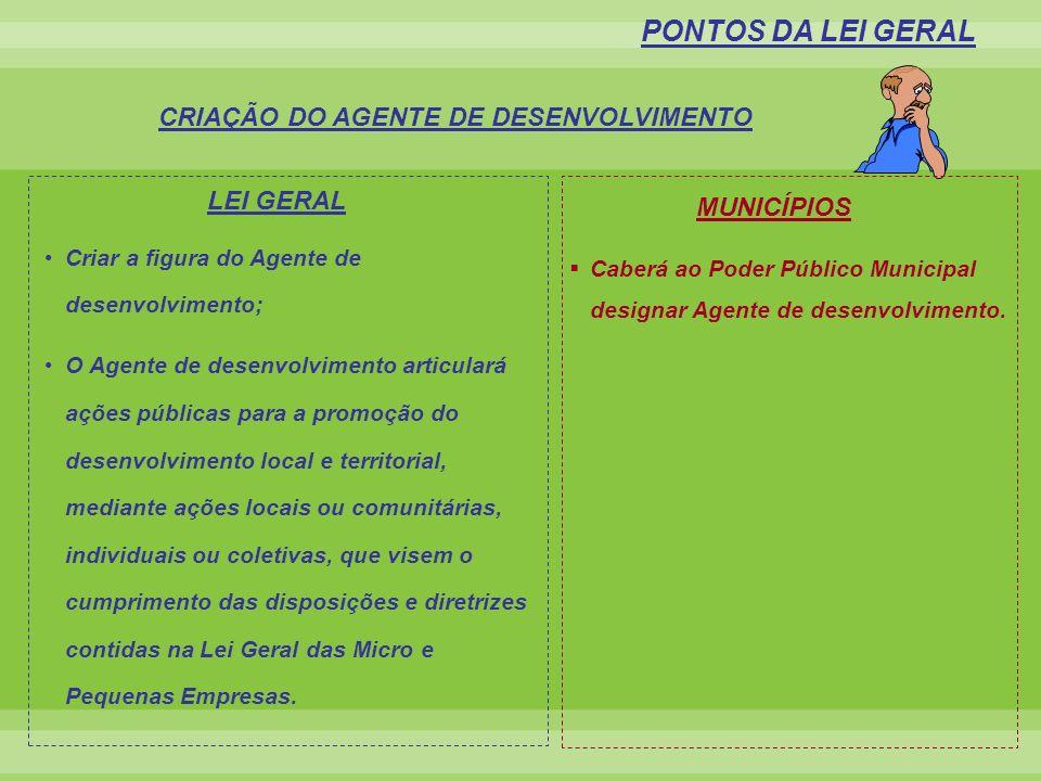 CRIAÇÃO DO AGENTE DE DESENVOLVIMENTO