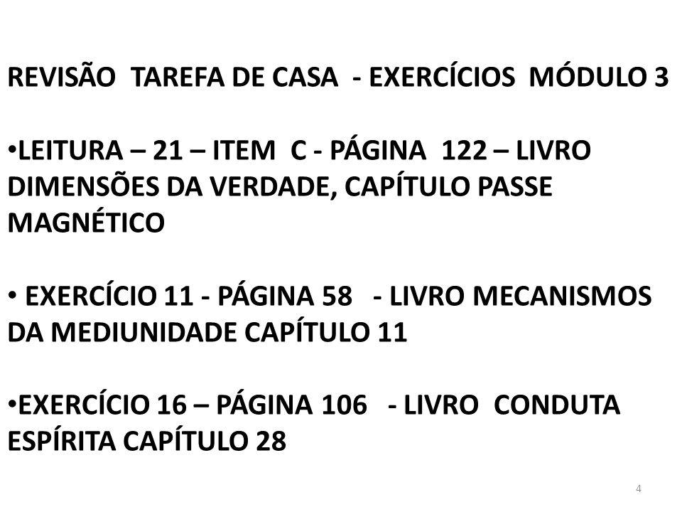 REVISÃO TAREFA DE CASA - EXERCÍCIOS MÓDULO 3