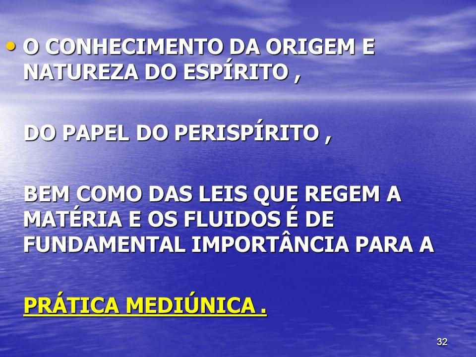 O CONHECIMENTO DA ORIGEM E NATUREZA DO ESPÍRITO ,