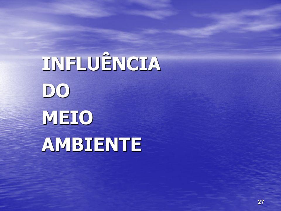 INFLUÊNCIA DO MEIO AMBIENTE