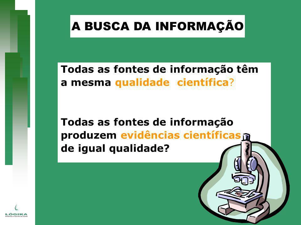 A BUSCA DA INFORMAÇÃO Todas as fontes de informação têm
