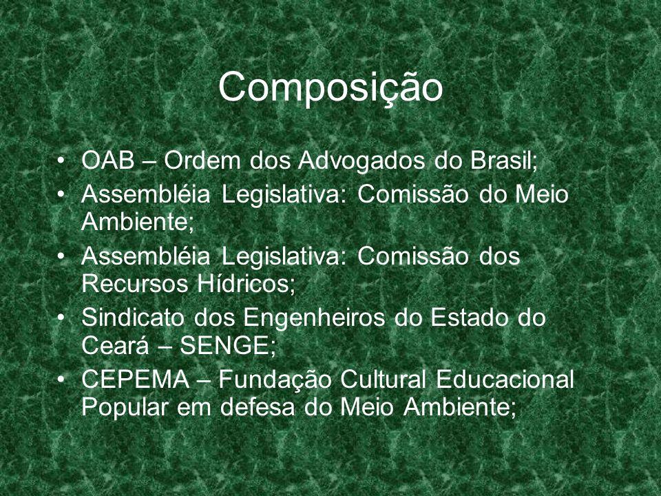 Composição OAB – Ordem dos Advogados do Brasil;