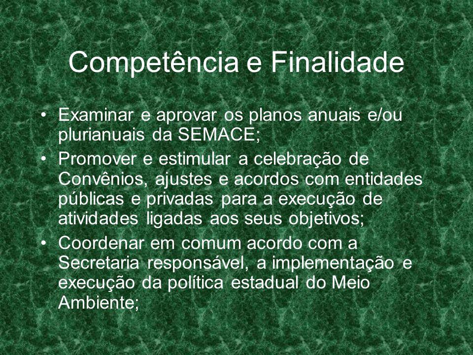 Competência e Finalidade
