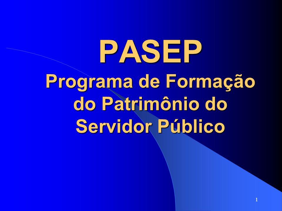 PASEP Programa de Formação do Patrimônio do Servidor Público