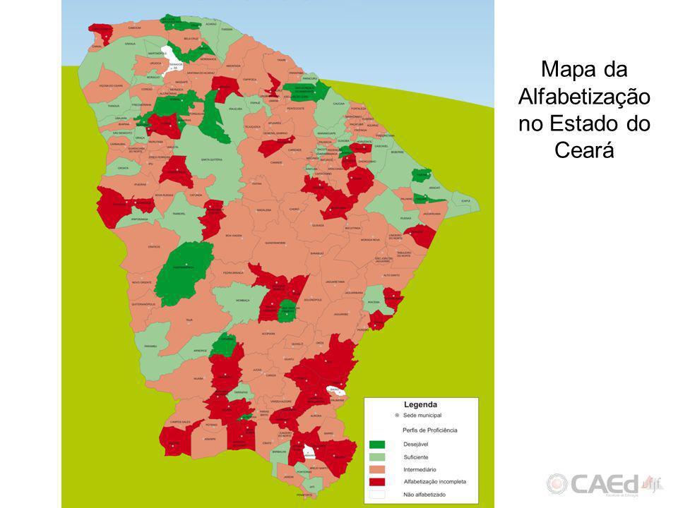 Mapa da Alfabetização no Estado do Ceará