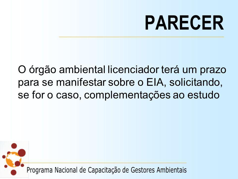PARECER Programa Nacional de Capacitação de Gestores Ambientais