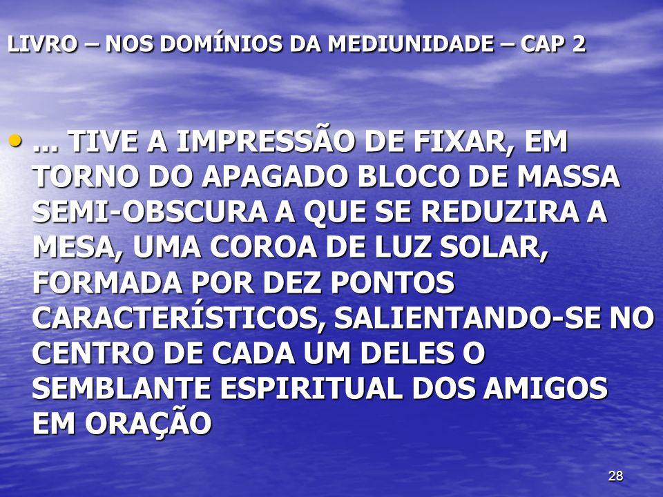 LIVRO – NOS DOMÍNIOS DA MEDIUNIDADE – CAP 2