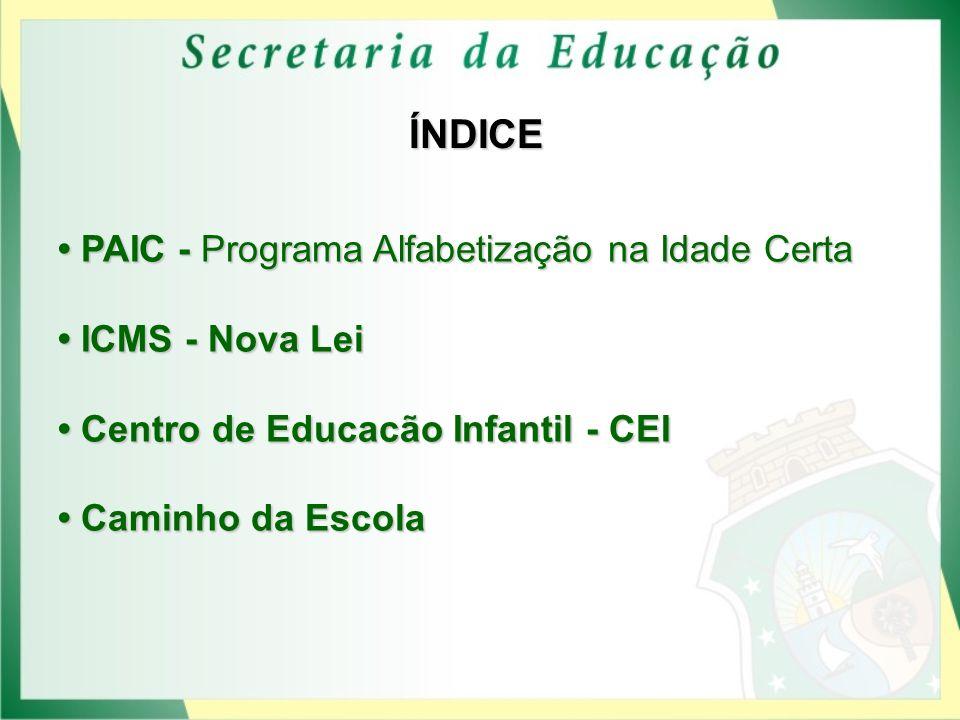 ÍNDICE • PAIC - Programa Alfabetização na Idade Certa