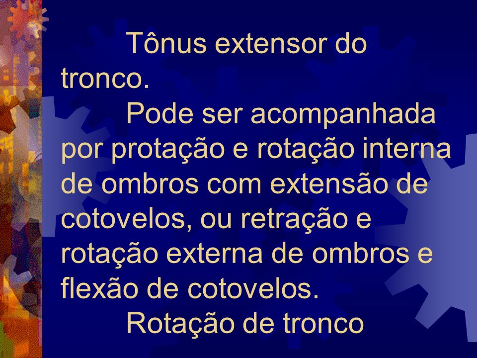 Tônus extensor do tronco