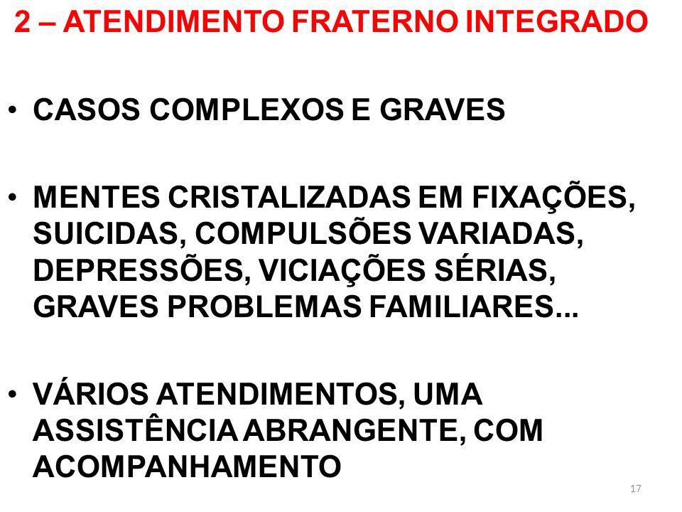 2 – ATENDIMENTO FRATERNO INTEGRADO