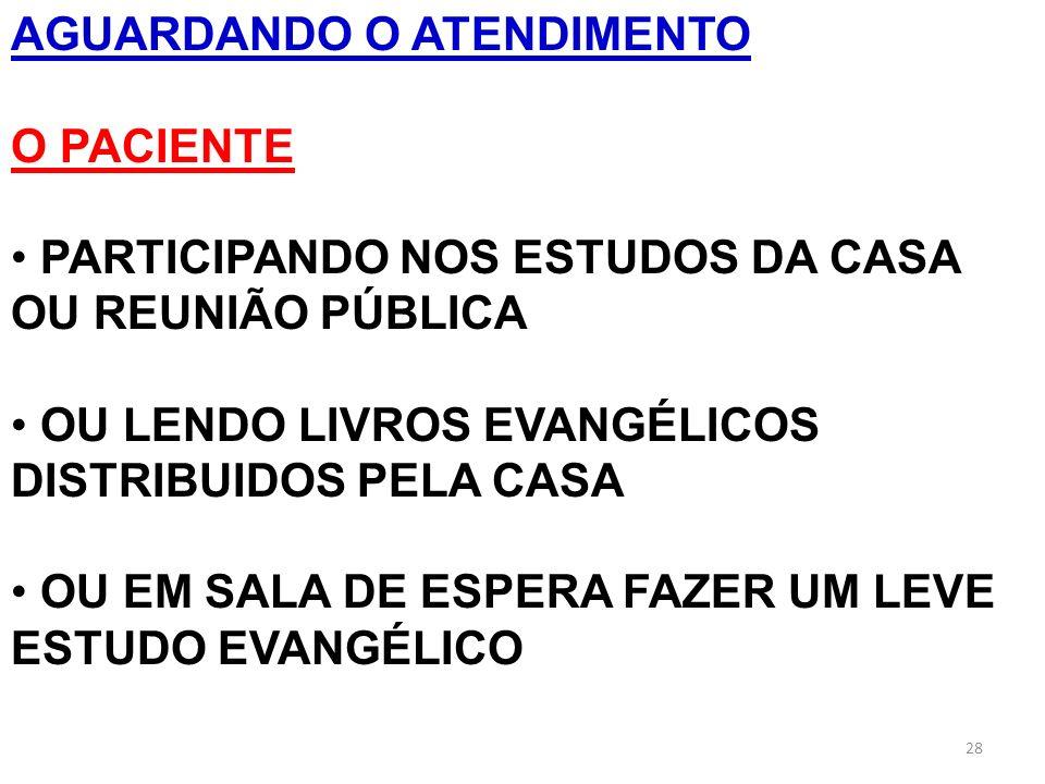 AGUARDANDO O ATENDIMENTO