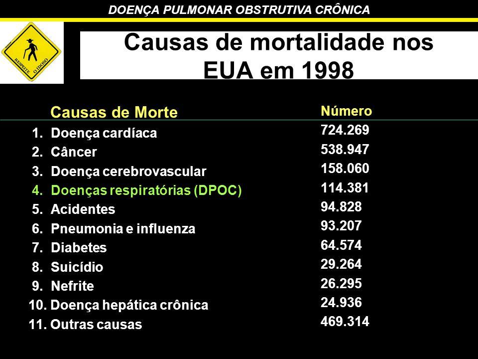 Causas de mortalidade nos EUA em 1998