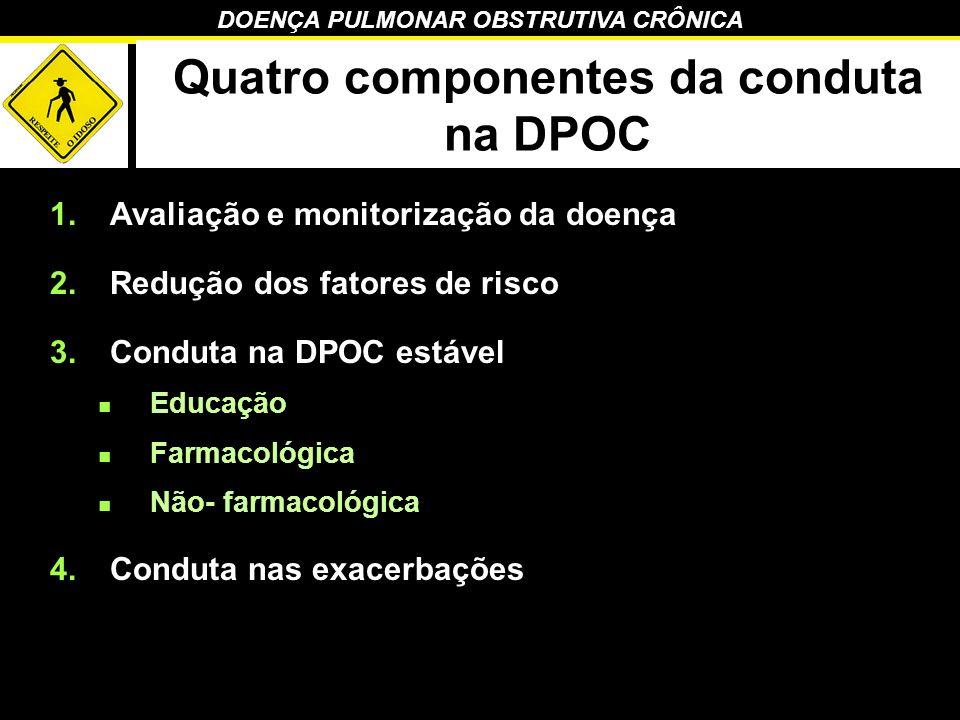 Quatro componentes da conduta na DPOC