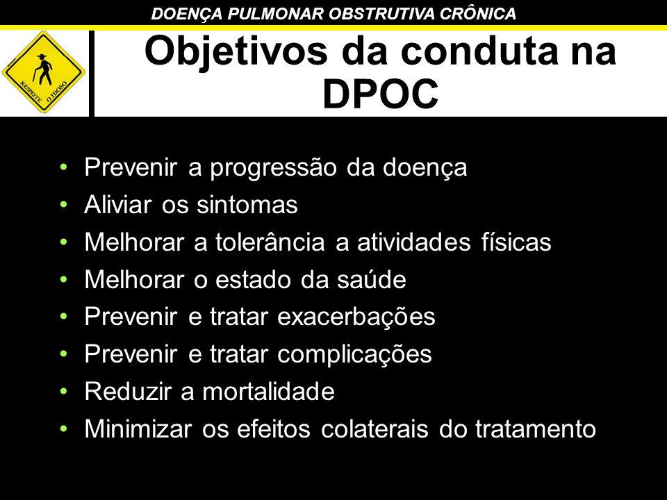 Objetivos da conduta na DPOC