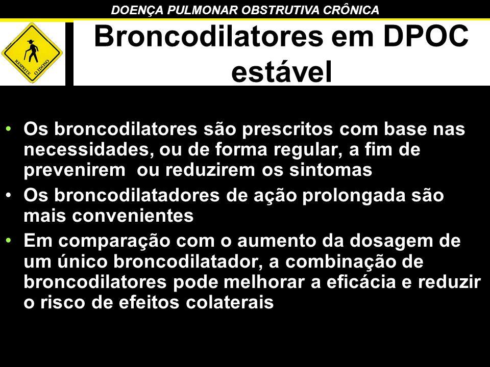 Broncodilatores em DPOC estável