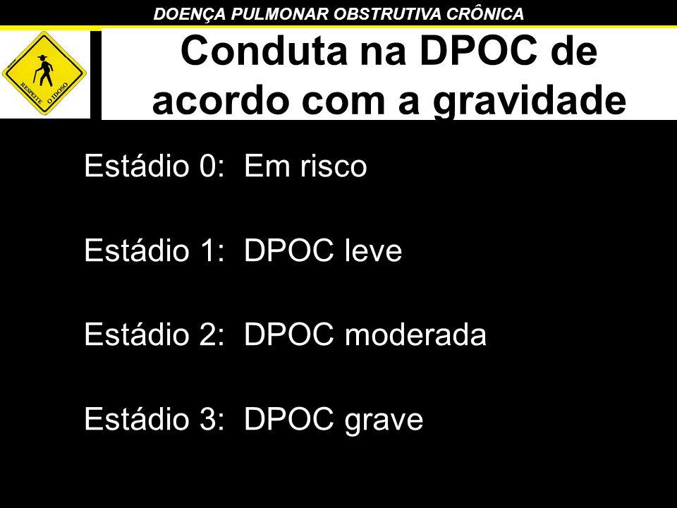 Conduta na DPOC de acordo com a gravidade