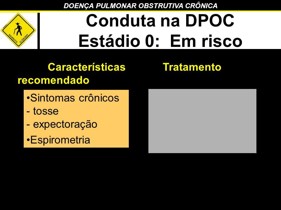 Conduta na DPOC Estádio 0: Em risco