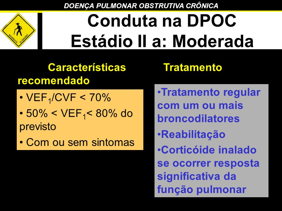 Conduta na DPOC Estádio II a: Moderada