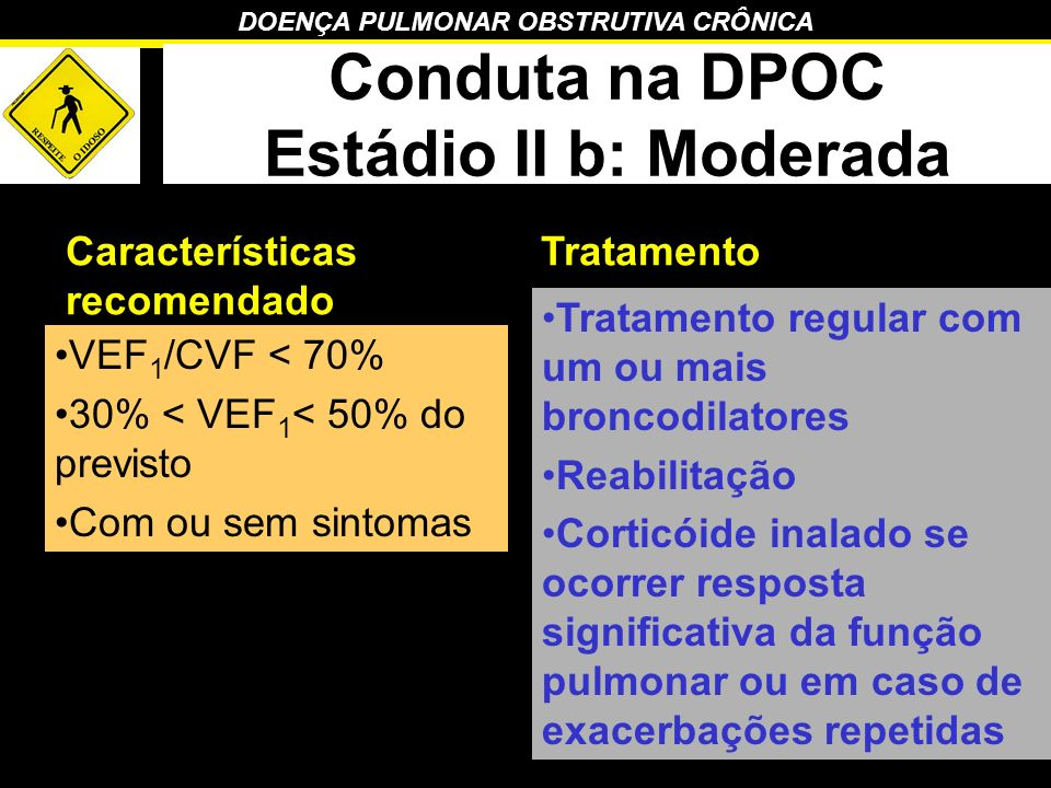Conduta na DPOC Estádio II b: Moderada