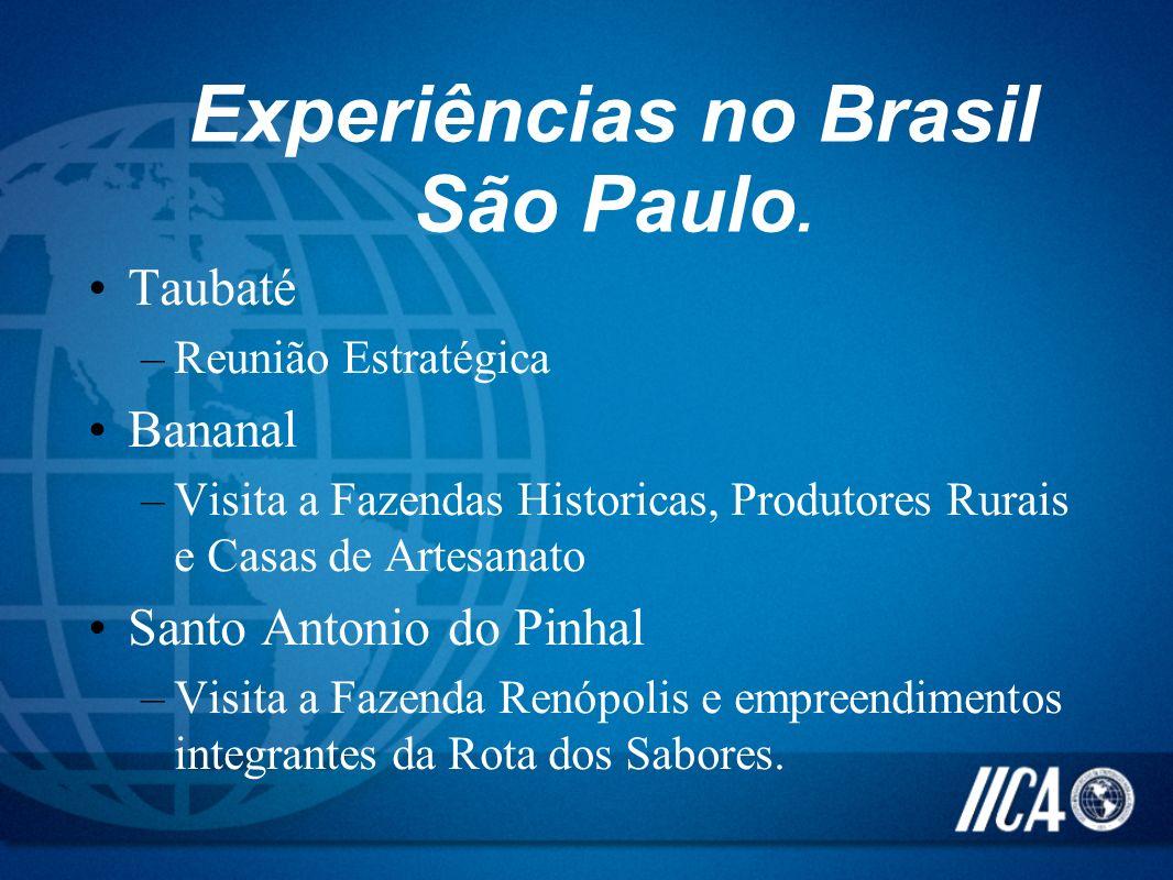 Experiências no Brasil São Paulo.