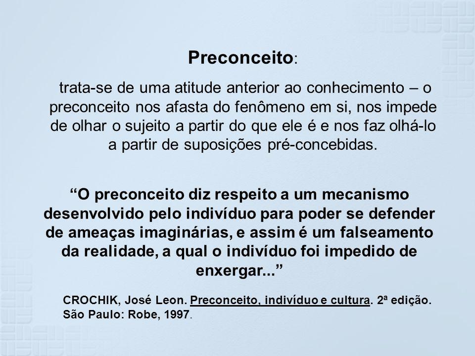 Preconceito: