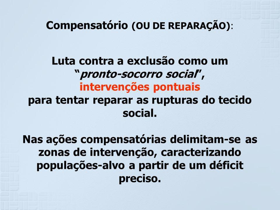 Compensatório (OU DE REPARAÇÃO):