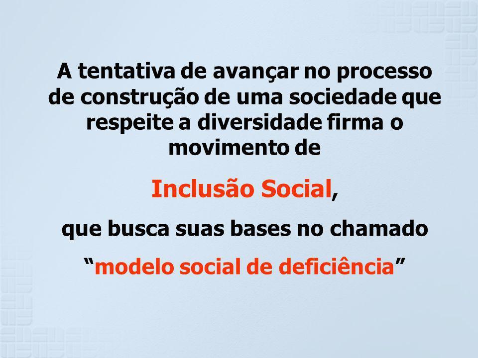 que busca suas bases no chamado modelo social de deficiência