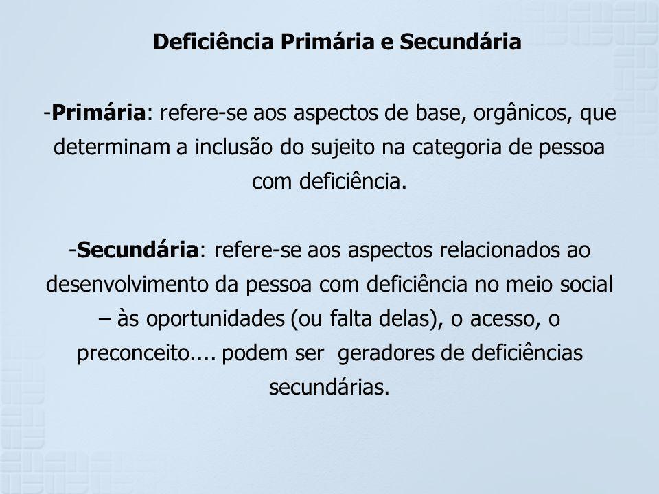Deficiência Primária e Secundária