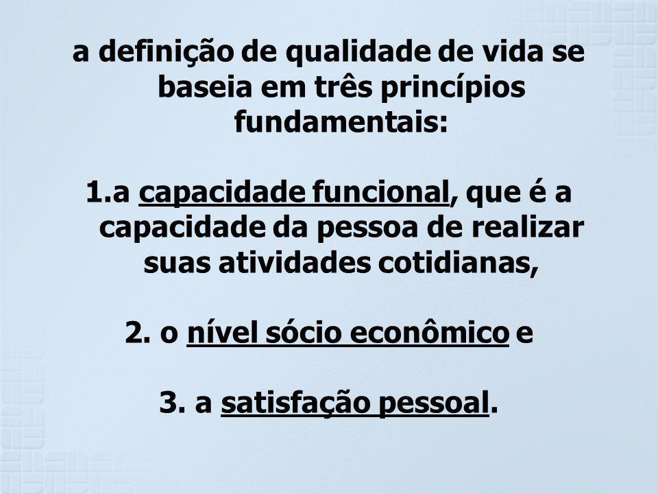 2. o nível sócio econômico e