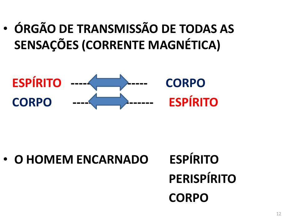 ÓRGÃO DE TRANSMISSÃO DE TODAS AS SENSAÇÕES (CORRENTE MAGNÉTICA)