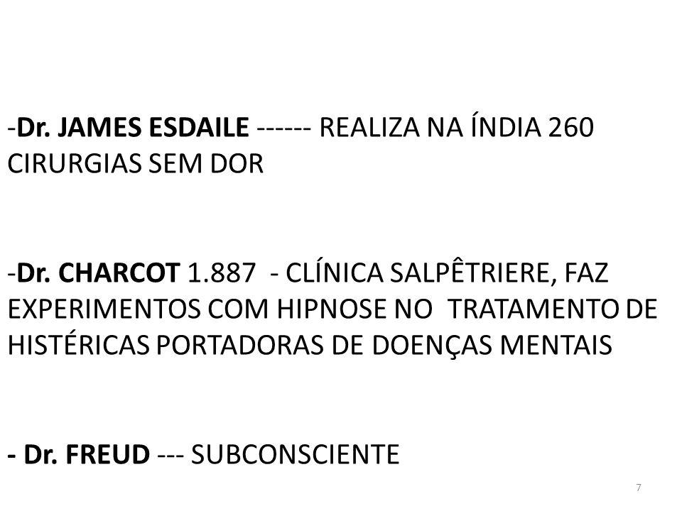 Dr. JAMES ESDAILE ------ REALIZA NA ÍNDIA 260 CIRURGIAS SEM DOR