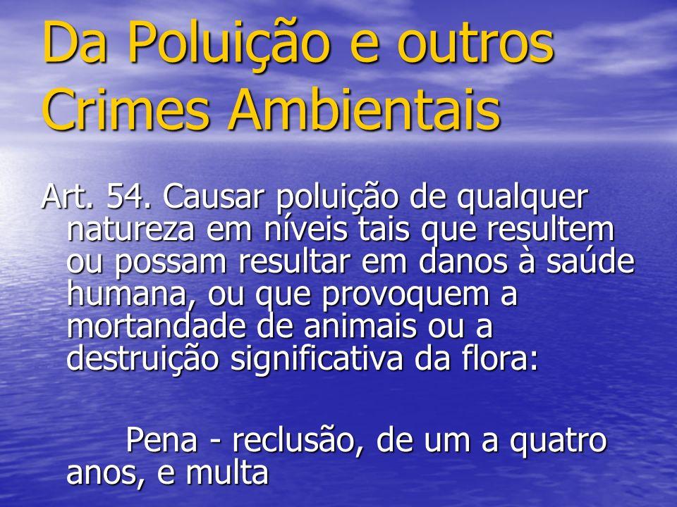 Da Poluição e outros Crimes Ambientais