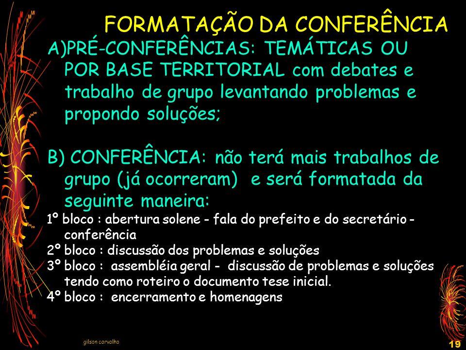 FORMATAÇÃO DA CONFERÊNCIA