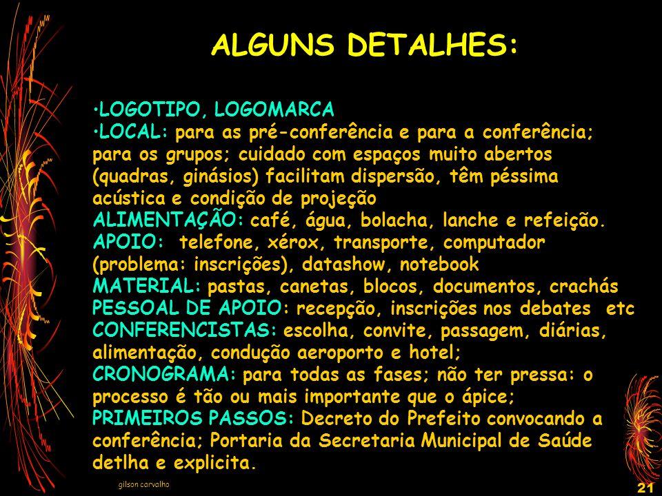 ALGUNS DETALHES: LOGOTIPO, LOGOMARCA