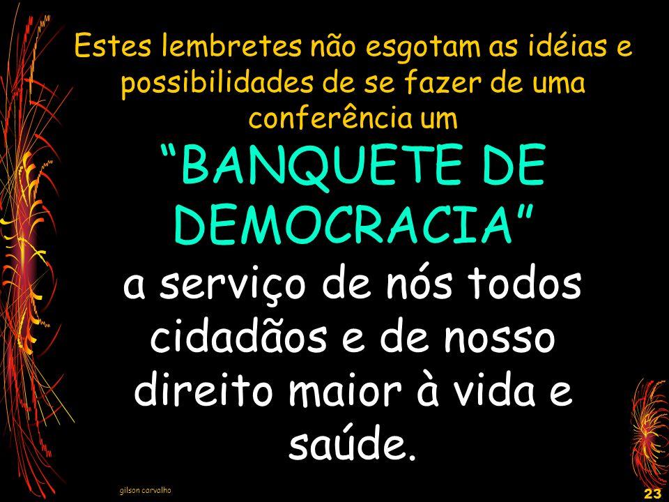 BANQUETE DE DEMOCRACIA