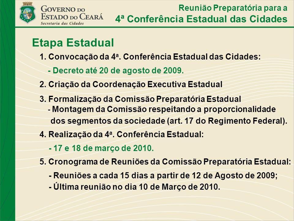 Etapa Estadual 4ª Conferência Estadual das Cidades