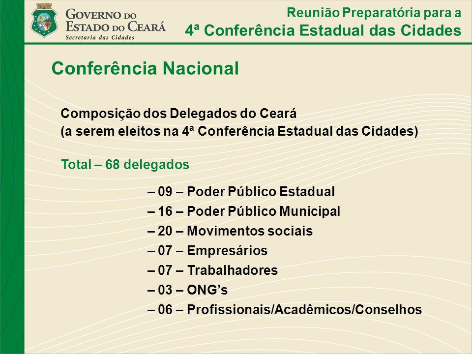 Conferência Nacional 4ª Conferência Estadual das Cidades