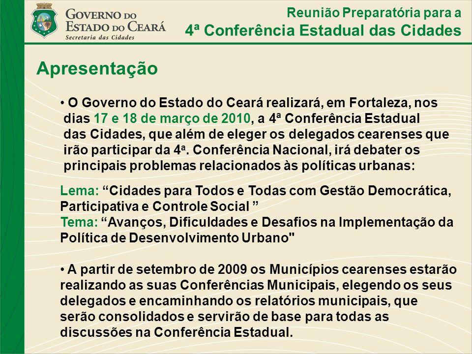 Apresentação 4ª Conferência Estadual das Cidades