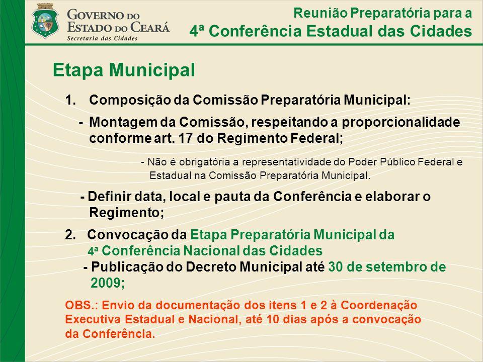 Etapa Municipal 4ª Conferência Estadual das Cidades