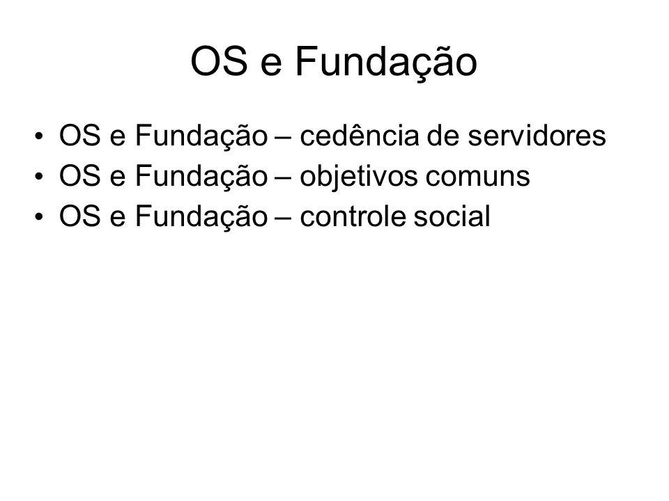 OS e Fundação OS e Fundação – cedência de servidores